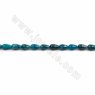 "Natural Blue Apatite Beads Strand, Teardrop, Size 6x10mm, Hole 1mm, 15~16""/strand"