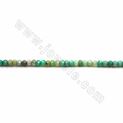 "Natural Green Moss Agate Beads Strand, Faceted Abacus, Size 2.5x4mm, Hole 0.8mm, 15~16""/strand"