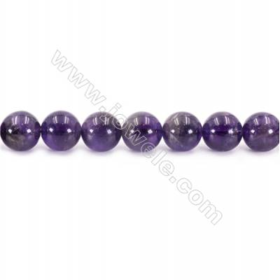 Natural Amethyst Beads Strand  Round  Diameter 14mm  hole 1.5mm  about 29 beads/strand 15~16""