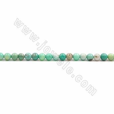"Natural Green Grass Agate Beads Strand, Round, Size 4mm, Hole 0.7mm, 15~16""/strand"