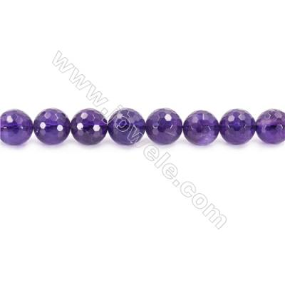 """Natural Amethyst Beads Strand  Faceted Round  Diameter 12mm  hole 1.5mm  about 33 beads/strand 15~16"""""""