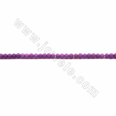 "Natural Kunzite Beads Strand, Round, Size 4mm, Hole 0.7mm, 15~16""/strand"