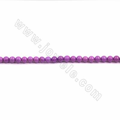 "Natural Kunzite Beads Strand, Round, Size 6.5mm, Hole 0.7mm, 15~16""/strand"