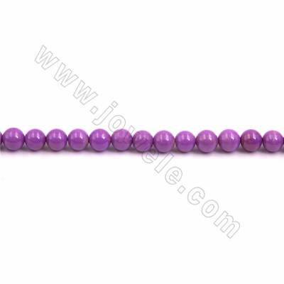 "Natural Kunzite Beads Strand, Round, Size 8mm, Hole 1mm, 15~16""/strand"