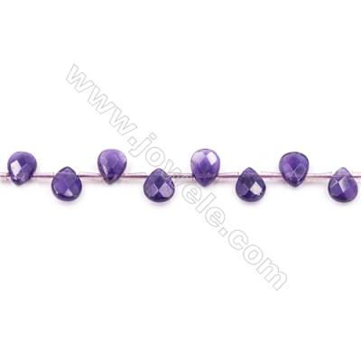 """Natural Amethyst Beads Strand  Faceted Waterdrop  Size 7x9mm  hole 1mm  about 40 beads/strand 15~16"""""""