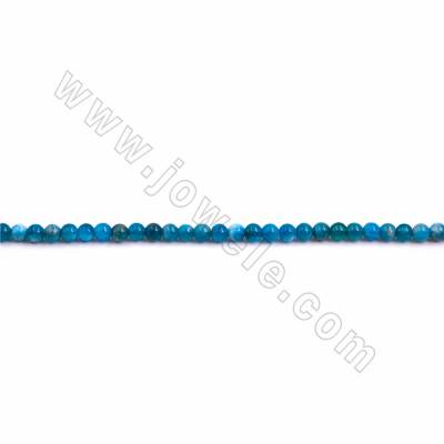 "Natural Blue Apatite Beads Strand, Round, Size 4mm, Hole 0.8mm, 15~16""/strand"