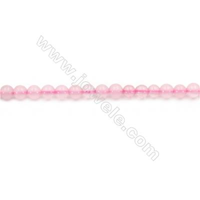 """Natural Rose Quartz Beads Strand  Round  Diameter 4mm  hole 0.8mm  about 94 beads/strand 15~16"""""""