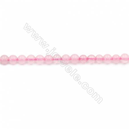 Natural Rose Quartz Beads Strand  Round  Diameter 4mm  hole 0.8mm  about 94 beads/strand 15~16""