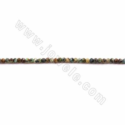 "Natural African Turquoise Beads Strand, Faceted Abacus, Size 2.5x3mm, Hole 0.8mm, 15~16""/strand"