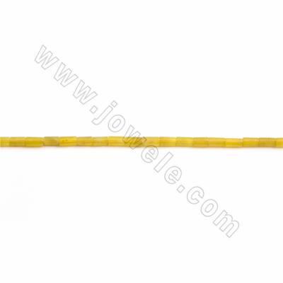 "Natural Korean Jade Beads Strands, Cylinder, Size 2x4mm, Hole 0.5mm, 15~16""/strand"