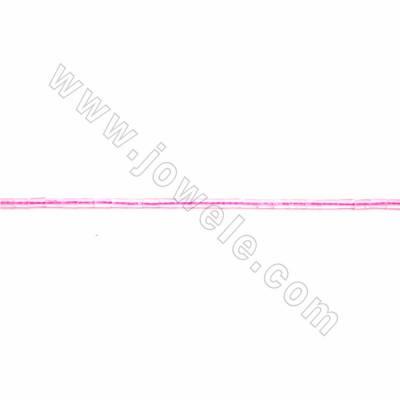"Natural Rose Quartz Beads Strand, Cylinder, Size 2x4mm, Hole 0.5mm, 15~16""/strand"