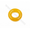 Natural Agate Donuts Pendants, Diameter 40mm, Hole 20mm, 4pcs/pack