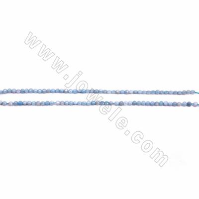 """Natural Aquamarine Faceted Beads Strands, Coin, Size 3.5x4.5mm, Hole 0.6mm, 15~16""""/strand"""