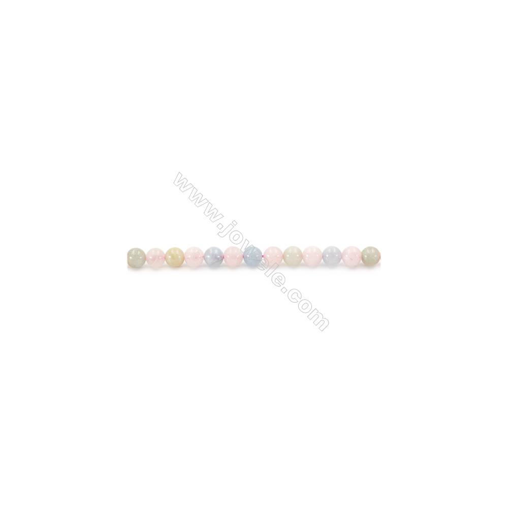 Natural Morganite Beads Strand  Round  Diameter 6mm  hole 1mm  about 72 beads/strand 15~16""