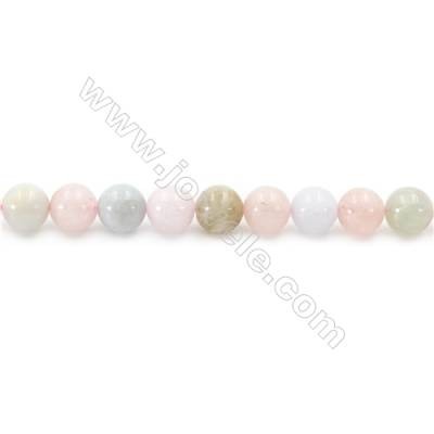Natural Morganite Beads Strand  Round  Diameter 8mm  hole 1mm  about 52 beads/strand 15~16""