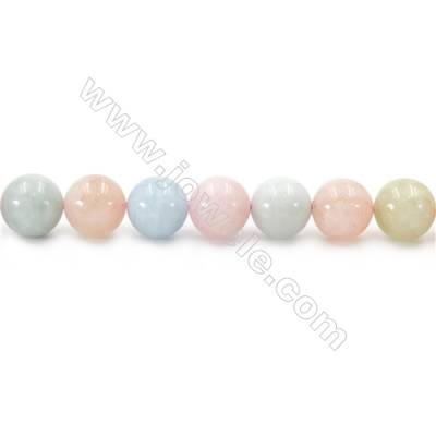 Natural Morganite Beads Strand  Round  Diameter 12mm  hole 1.5mm  about 34 beads/strand 15~16""