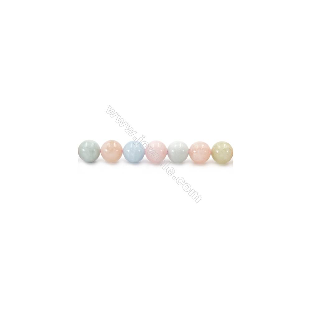 """Natural Morganite Beads Strand  Round  Diameter 12mm  hole 1.5mm  about 34 beads/strand 15~16"""""""