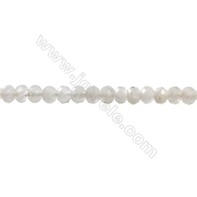 Natural White Moonstone Beads Strand  Faceted Abacus  Size 3x4mm  hole 1mm  about 126 beads/strand 15~16""