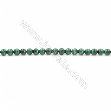 Natural Green Malachite Beads Strand  Round  Diameter 3mm  hole 0.6mm  about 152 beads/strand 15~16""