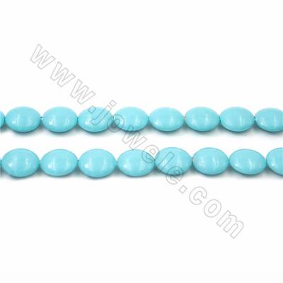 "Electroplate Natural Shell Pearl Beads Strand, Coin, Blue, Size about 10x22mm, Hole about 1.5mm, 15~16""/strand"