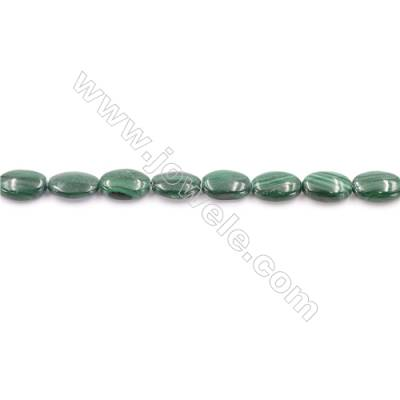 Natural Green Malachite Beads Strand  Oval  Size 8x12mm  hole 1mm  about 30 beads/strand 15~16""