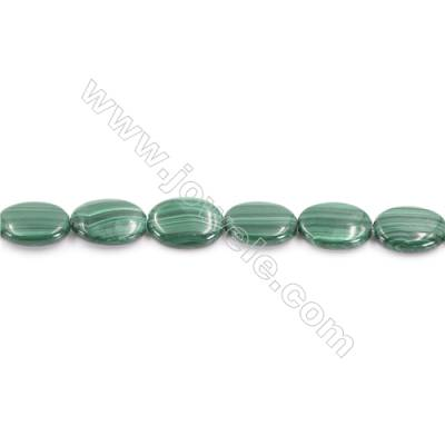 Natural Green Malachite Beads Strand  Oval  Size 10x14mm  hole 1mm  about 27 beads/strand 15~16""
