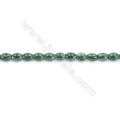 Natural Green Malachite Beads Strand  Horse Eye  Size 6x8mm  hole 1mm  about 52 beads/strand 15~16""