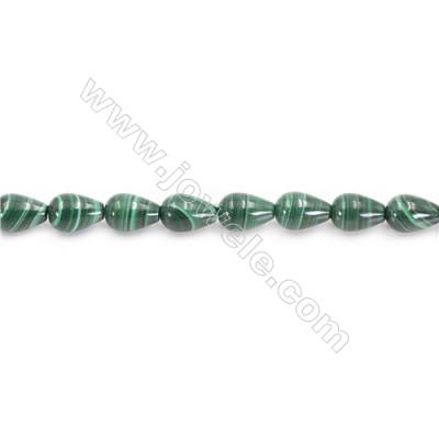 Natural Green Malachite Beads Strand  Teardrop  Size 8x12mm  hole 1mm  about 33 beads/strand 15~16""