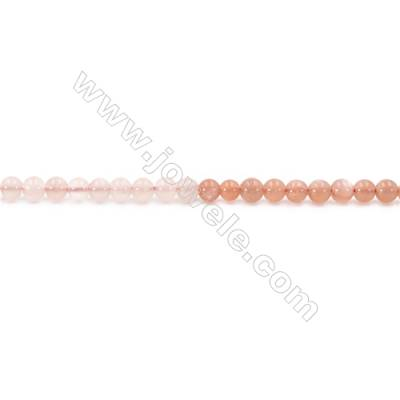 Natural Alternated Moonstone Beads Strand  Round  Diameter 4mm  hole 0.8mm  about 90 beads/strand 15~16""
