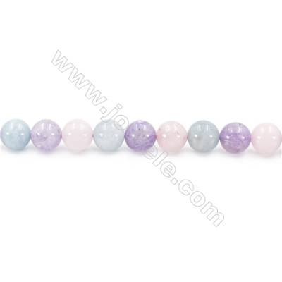 Natural Crystal Mix Beads Strand  Round  Diameter 8mm  hole 1mm  about 50 beads/strand 15~16""