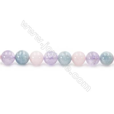 Natural Crystal Mix Beads Strand  Round  Diameter 10mm  hole 1mm  about 39 beads/strand 15~16""