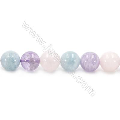 Natural Crystal Mix Beads Strand  Round  Diameter 12mm  hole 1.5mm  about 33 beads/strand 15~16""