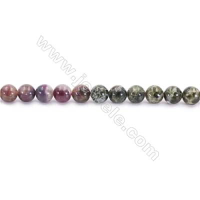 Natural Alternated Tourmaline Beads Strand  Round  Diameter 6mm  hole 1mm  about 60 beads/strand 15~16""