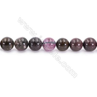 Natural Tourmaline Beads Strand  Round  Diameter 10mm  hole 1mm  about 37 beads/strand 15~16""