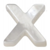 9x12mm Natural White Mother-of-pearl Shell Charms  Letter A-Z  Hole 1mm  26pcs/pack