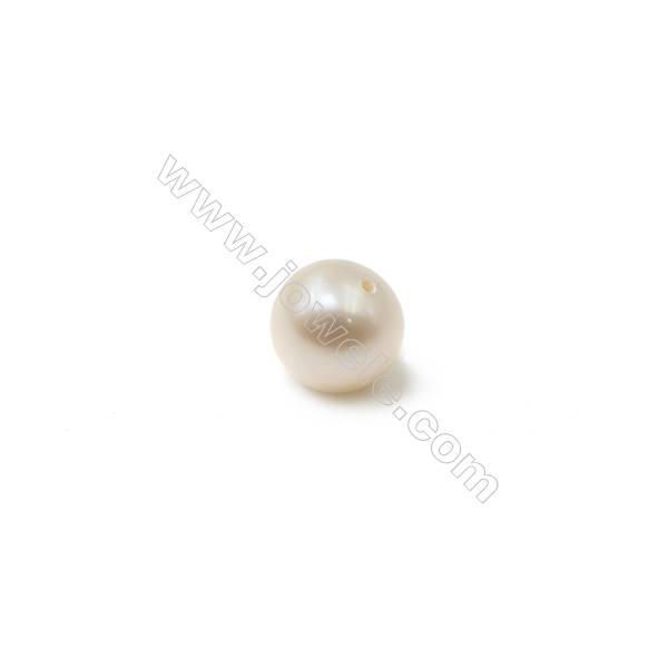 Fresh Water White Pearl Half-Drilled Beads  Diameter 5~5.5mm  Hole 0.8mm  20 pcs/pack