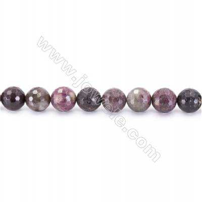 Natural Alternated Tourmaline Beads Strand  Faceted Round  Diameter 10mm  hole 1mm  about 37 beads/strand 15~16""