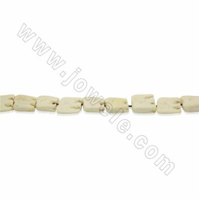 Handmade Carved Ox Bone Beads Strands, White, Elephant, Size 22x22mm, Hole 1.5mm, 25 beads/strand