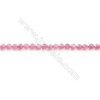 Natural Tourmaline Beads Strand  Faceted Round  Diameter 4mm  hole 0.8mm  about 92 beads/strand 15~16""