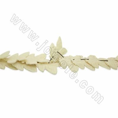 Handmade Carved Ox Bone Beads Strands, Owl, White, Size 40x45mm, Hole 1.5mm, 18 beads/strand