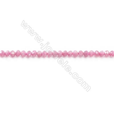 Natural Tourmaline Beads Strand  Faceted Abacus  Size 3x4mm  hole 0.6mm  about 127 beads/strand 15~16""