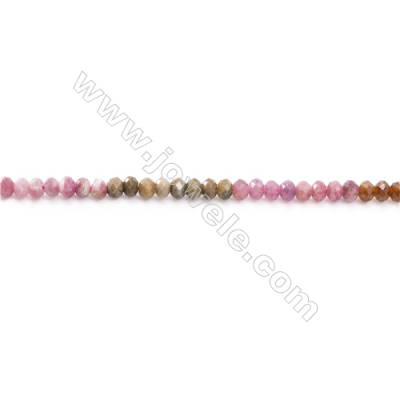 Natural Alternated Tourmaline Beads Strand  Faceted Abacus  Size 4x8mm  hole 0.8mm  about 96 beads/strand 15~16""
