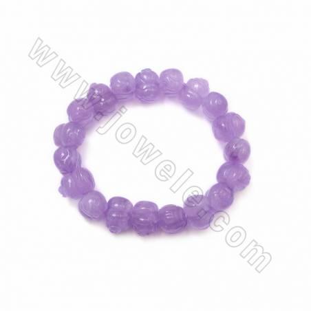 Amethyst (Rose Quartz) Lovely Pig Bracelets, Size 10x10x14mm, Hole 1mm, x1strand