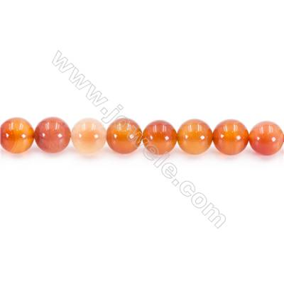 Natural Carnelian Beads Strand  Round  Diameter 10mm  hole 1mm  about 38beads/strand 15~16""