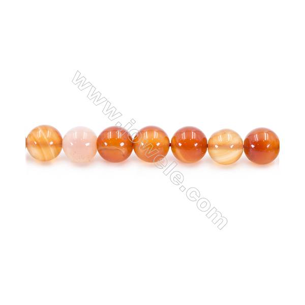 Natural Carnelian Beads Strand  Round  Diameter 12mm  hole 1.5mm  about 33 beads/strand 15~16""
