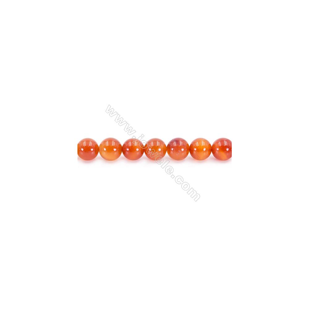 Natural Carnelian Beads Strand  Round  Diameter 14mm  hole 1.5mm  about 27 beads/strand 15~16""