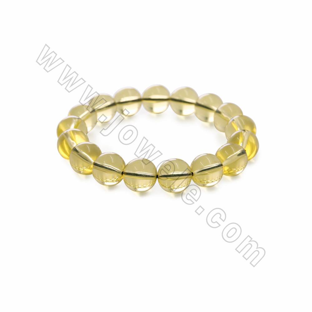Dominican Natural Amber Bangle Beads Bracelets, Round, Size 10-20mm x1 strand