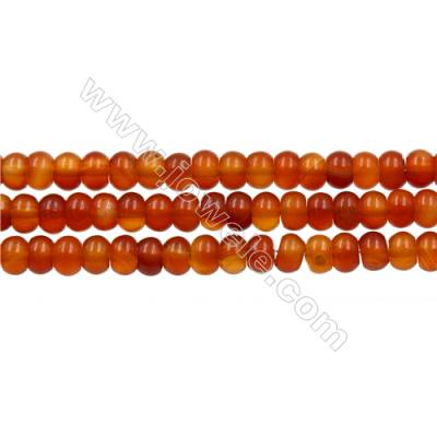 Natural Carnelian Beads Strand  Abacus  Size 4x6mm  hole 0.8mm  about 106 beads/strand 15~16""