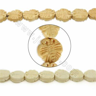 Handmade Carved Ox Bone Beads Strands, Butterfly, Size 17mm, Hole 1.5mm, 25 beads/strand