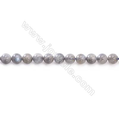 Natural Labradorite Beads Strand  Round  Diameter 6mm  hole 1mm  about 66 beads/strand 15~16""